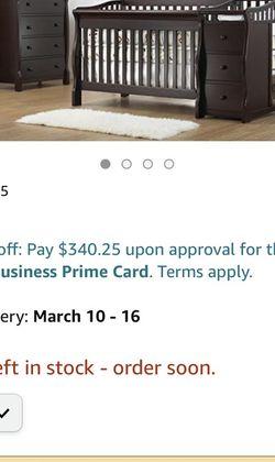 Sorelle Princeton Elite Crib & Changer w/Serta Mattress for Sale in Newport Beach,  CA