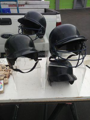 Four baseball batting helmets for Sale in Las Vegas, NV
