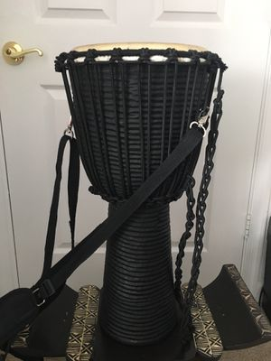 Meinl Professional African Djembe Large African Village Carving with Shoulder strap for Sale in Orlando, FL