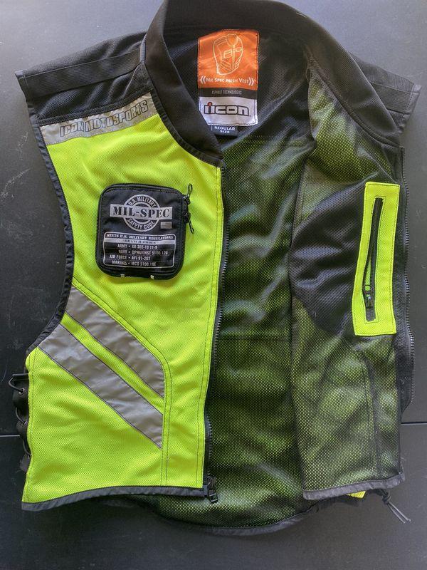 Motorcycle Vest Icon Mil-Spec Mesh Vest