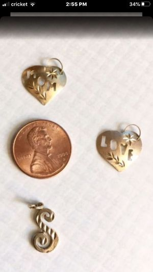 14k Real Gold Diamond cut charms. $16. Each. East Dundee. (Sells for $49 in stores) for Sale in Carpentersville, IL