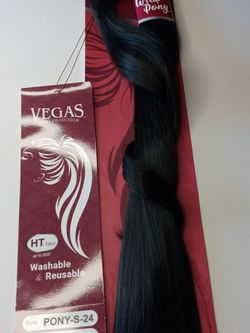 """24"""" Long (#1b) New Wrap ponytail Hair Extension ( Natural black) for Sale in Downey,  CA"""