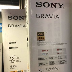 Sony Bravia android 4K TV 65 and 75 inch eight series Black Friday sale for Sale in Jurupa Valley, CA