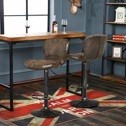 Set of 2 Adjustable Swivel Hot-stamping Bar Stools with Backrest for Sale in Diamond Bar,  CA