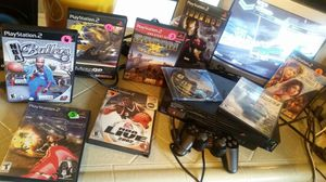 Playstation 2 system with 10 games for Sale in Fresno, CA