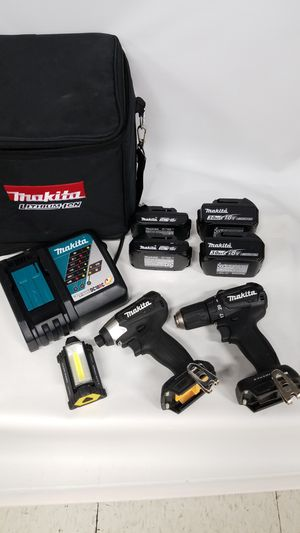 Makita Drill and Impact Wrench Bundle (775059-1) for Sale in Tacoma, WA