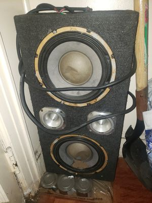 Chuchero 10 inch audio pipe speakers need gone asap for Sale in Brooklyn, NY