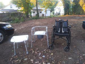 Wheel chair, portable toilet , chair bath tub for Sale in Lynchburg, VA