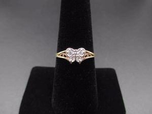 Vintage Size 7 10K Yellow Gold Butterfly Cubic Zirconia Diamond Band Ring Wedding Engagement Anniversary Gift Idea Beautiful Elegant for Sale in Bothell, WA