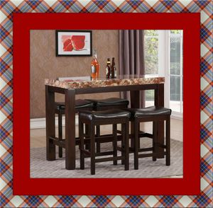 5pc Pub table with 4 stools free delivery for Sale in Crofton, MD