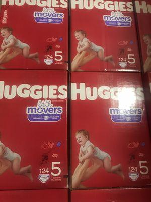 Huggies little movers size 5 $33 cada caja precio firme y for Sale in Santa Ana, CA