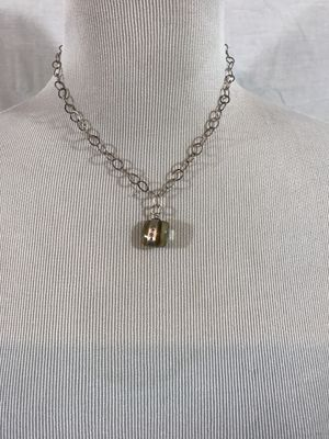"""Gold Tone necklace with dream charm - total length = 17"""" for Sale in Waukesha, WI"""