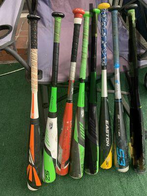 Baseball Bats EASTON-LOUISVILLE-MARUCCI 29/-10 $30EA for Sale in Baldwin Park, CA