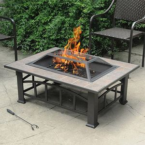 Rectangular Tile Table Top Fire Pit for Patio Backyard for Sale in Corona, CA