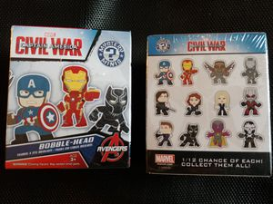2 funko captain america civil war mystery minis bobble head figures for Sale in Dayton, OR