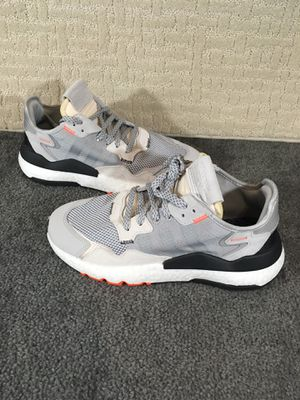 Adidas Nite Jogger Size 9.5 Mens Multi Solid Reflective Grey/Solar Orange for Sale in Kissimmee, FL