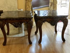 Two end tables great detail and beautiful design. for Sale in San Dimas, CA