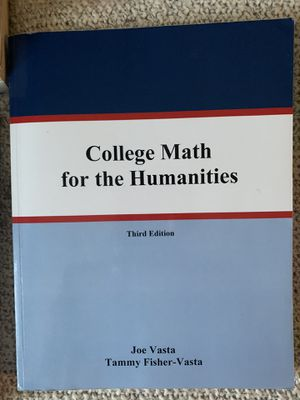 College math for humanities for Sale in San Luis Obispo, CA