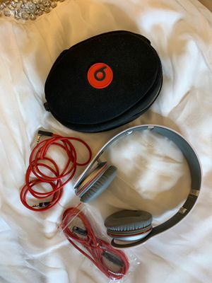 BEATS BY DR. DRE STUDIO WIRED OVER EAR HEADPHONES - white/gray/red for Sale in Scottsdale, AZ