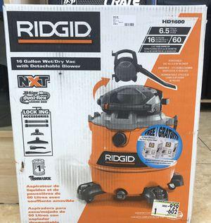 Ridgid HD1600 wet/dry vac for Sale in Davie, FL