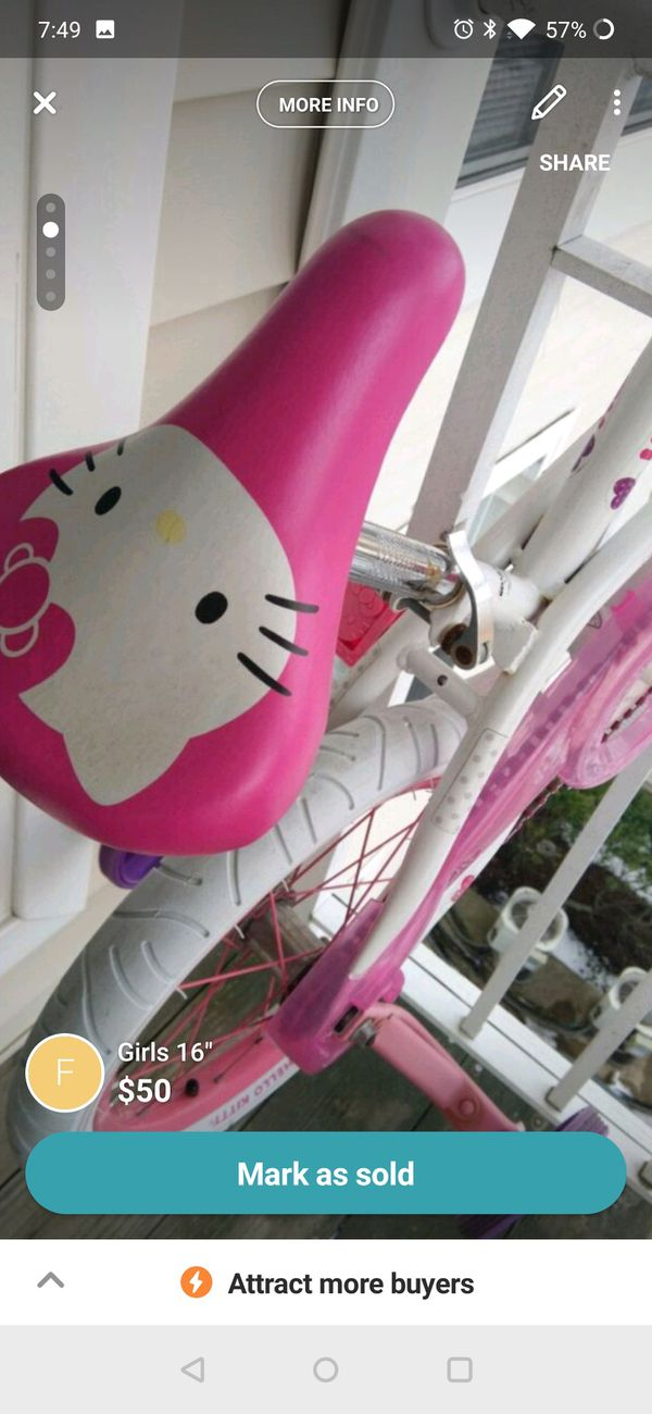 "16"" girl hello Kitty bike"