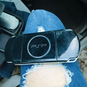 PSP portable player with charging cord case games game case holder for Sale in Lakeland, FL