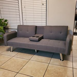 Sofa-Living Room Fabric Couch. Futon/sofa bed for Sale in Orange, CA