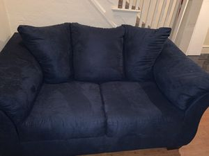Navy Blue Love seat and Sofa for Sale in Philadelphia, PA