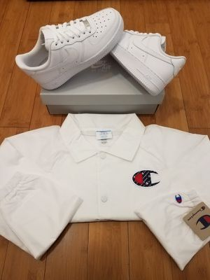Deal Package , Nike AF1 and Champion Windbreaker Jacket for Sale in Paramount, CA