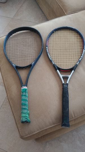 Tennis Rackets Bundle 2. 1 PrinceCTS Thunderstick 110 . OTHER Head To Laser both probably 4.5 to maybe larger needs regrip for Sale in Boca Raton, FL