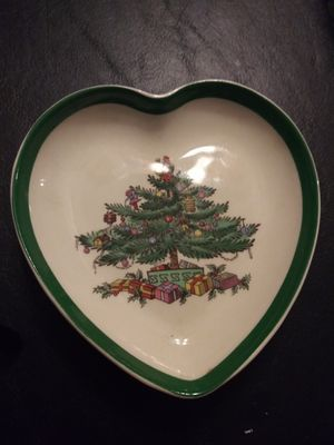 Spode Heart Shaped Shallow Trinket Dish Christmas Tree. England for Sale in Palmdale, CA