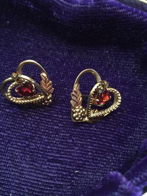 Garnet heart Earrings for Sale in Woodstock, GA