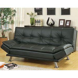 Black sleeping sofa futon new in boxes 79x44x19H for Sale in North Miami Beach, FL