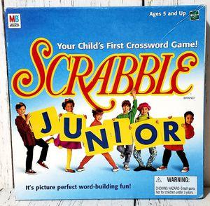 Scrabble Junior Crossword Board Game Milton Bradley Hasbro Vintage 1999 COMPLETE for Sale in Harrisonburg, VA