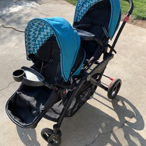 Double Stroller / with Extras (Contours Options Elite 2016 Purchase for Twins) for Sale in Fresno, CA