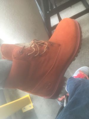 Red timberlands never worn before size 9 for Sale in Seattle, WA