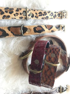 Recycled Italian Leather Dog Collars! for Sale in Los Angeles, CA