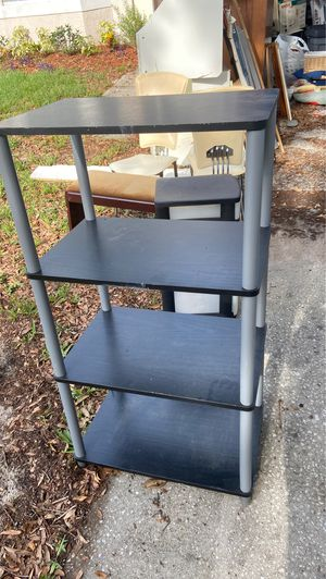 Shelves storage set of two with matching tv stand for Sale in Orlando, FL