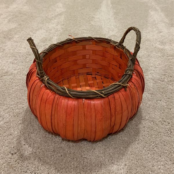Handmade Wicker Pumpkin Basket