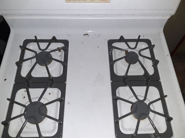 Whirlpool gas stove self clean oven