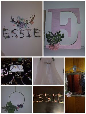 Sticks and Twig Monogram Letters, canopies, candle holders and mirrors accented with florals. for Sale in Nashville, TN
