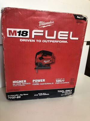 Milwaukee New JIG SAW M18 (Fuel- Brushless) (tool only) Nuevo for Sale in Los Angeles, CA