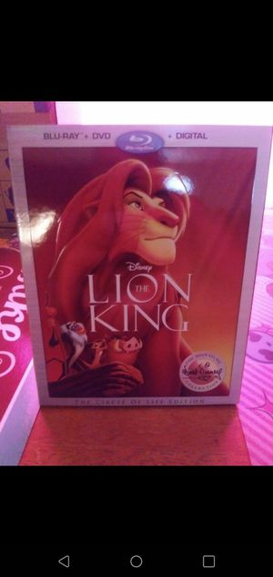 The lion king blue-ray for Sale in Tampa, FL