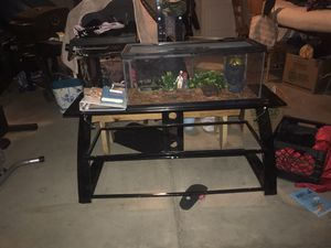 """TV stand glass 55"""" for Sale in Merced, CA"""