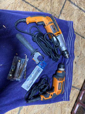 Rigid Drill Set includes Bits for Sale in Buena Park, CA