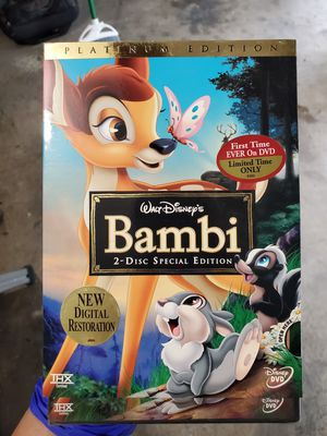 Disney Bambi Platinum Edition 2-Disc DVD new for Sale in Brea, CA