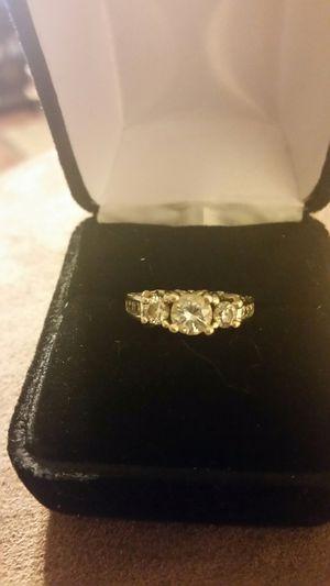14kt white gold three center stone diamond ring for Sale in Richmond, VA
