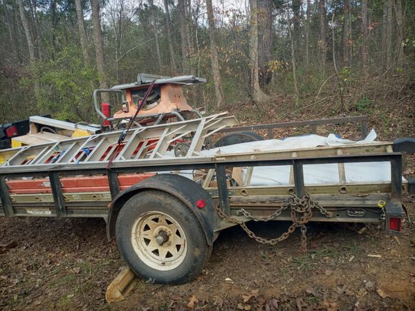 Trailer $800. ....LADDERS $50 each ......saws $100 -$350 all this stuff 1 mth old
