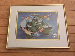 Disney Peter Pan framed lithograph for Sale in Cary, NC