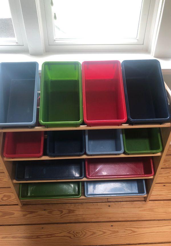 Childs storage container toy organizer